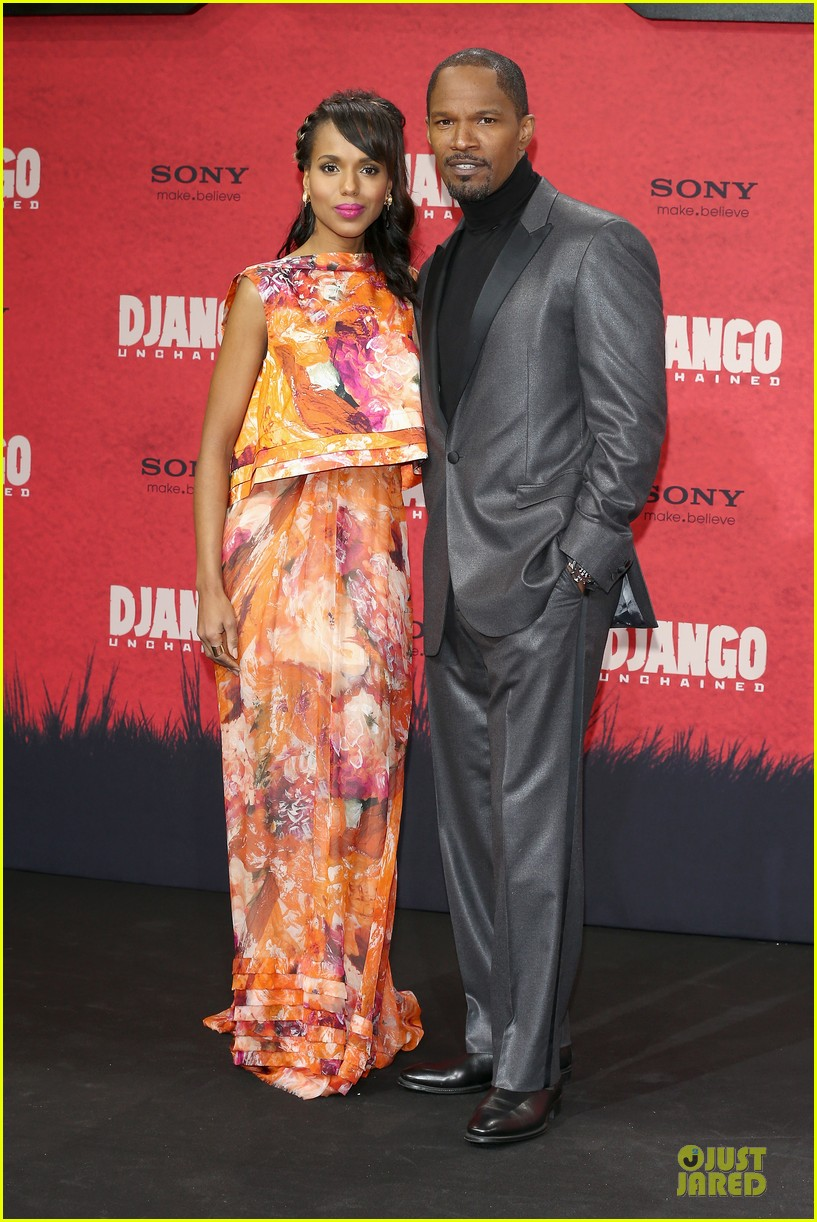 kerry washington & jamie foxx django unchained berlin premiere 112787073
