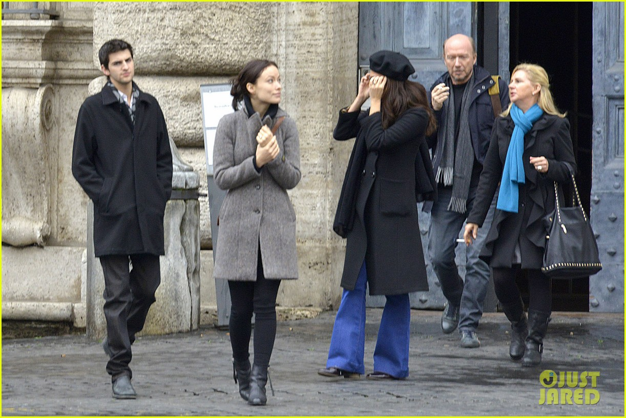 olivia wilde flashes engagement ring on third person set 10
