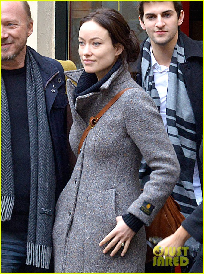 olivia wilde flashes engagement ring on third person set 29
