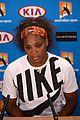 serena williams reveals swollen ankle after breaking racquet 02