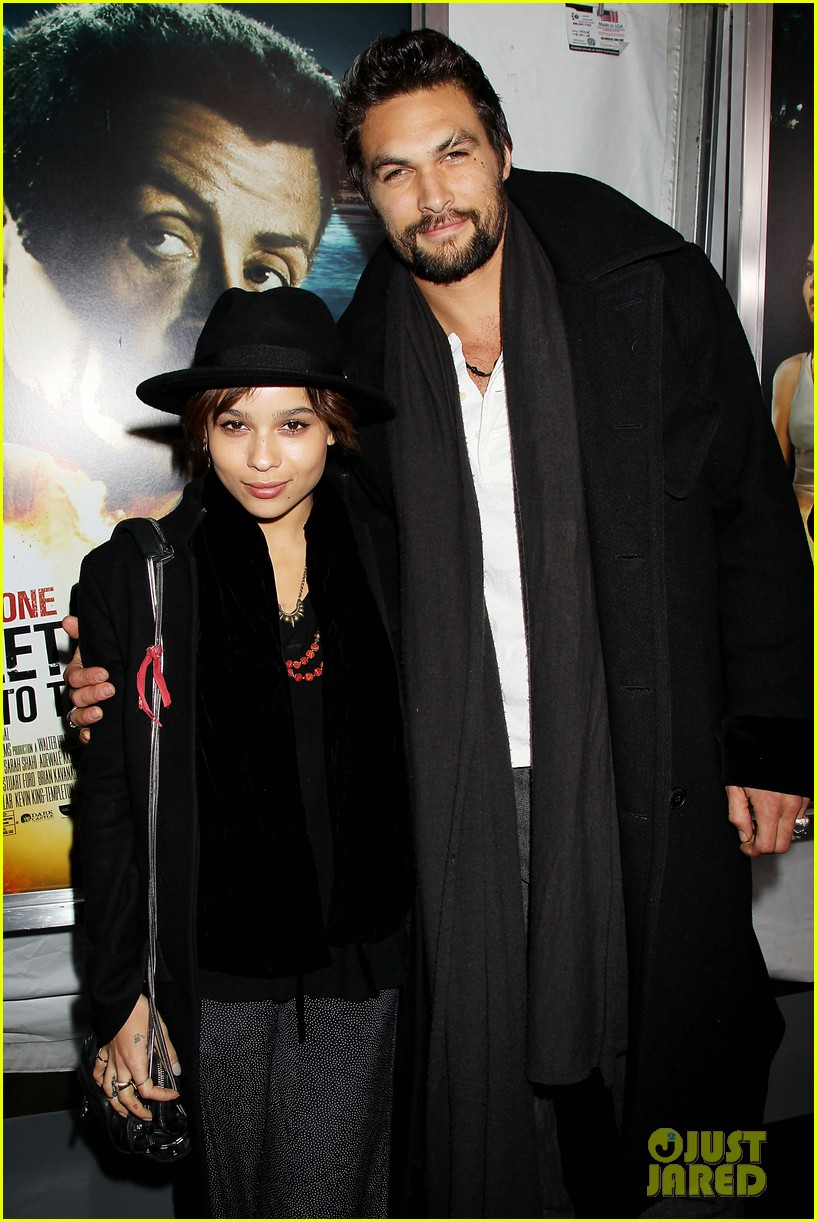 Zoe Kravitz Jason Momoa Bullet To The Head Premiere
