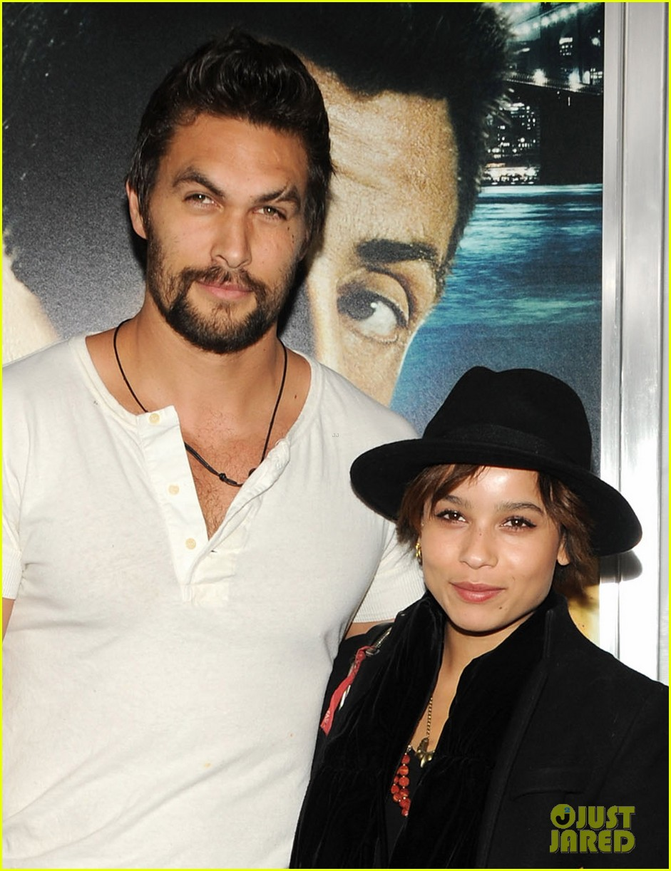 zoe kravitz jason momoa bullett to the head premiere 062801256