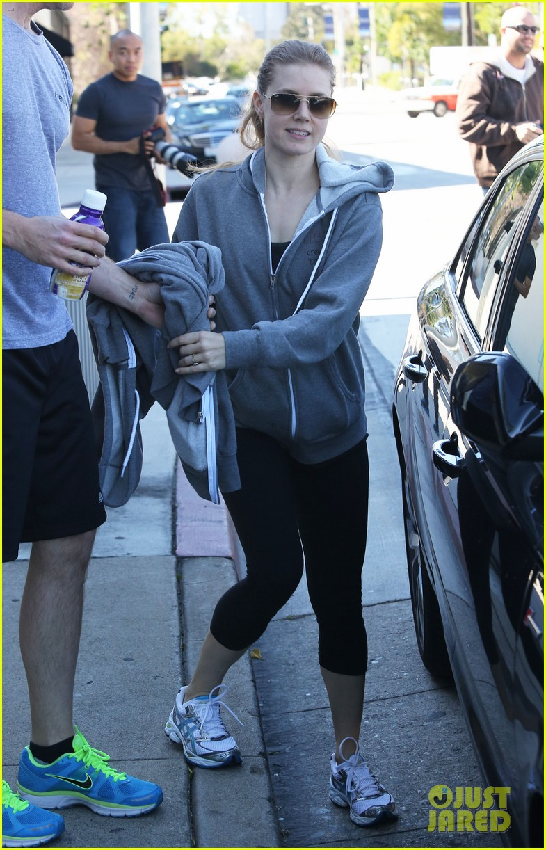amy adams darren le gallo weho workout twosome 012816358