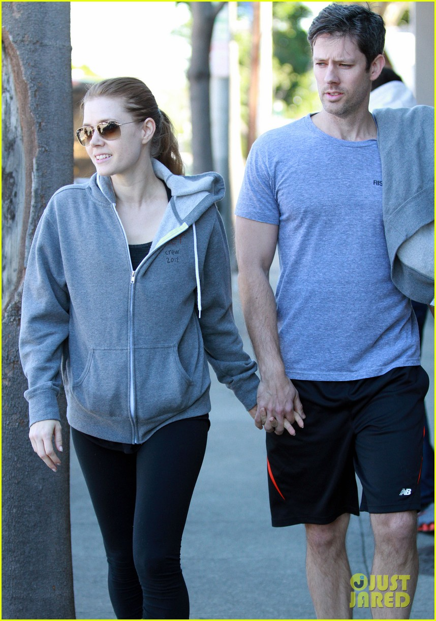 amy adams darren le gallo weho workout twosome 042816361