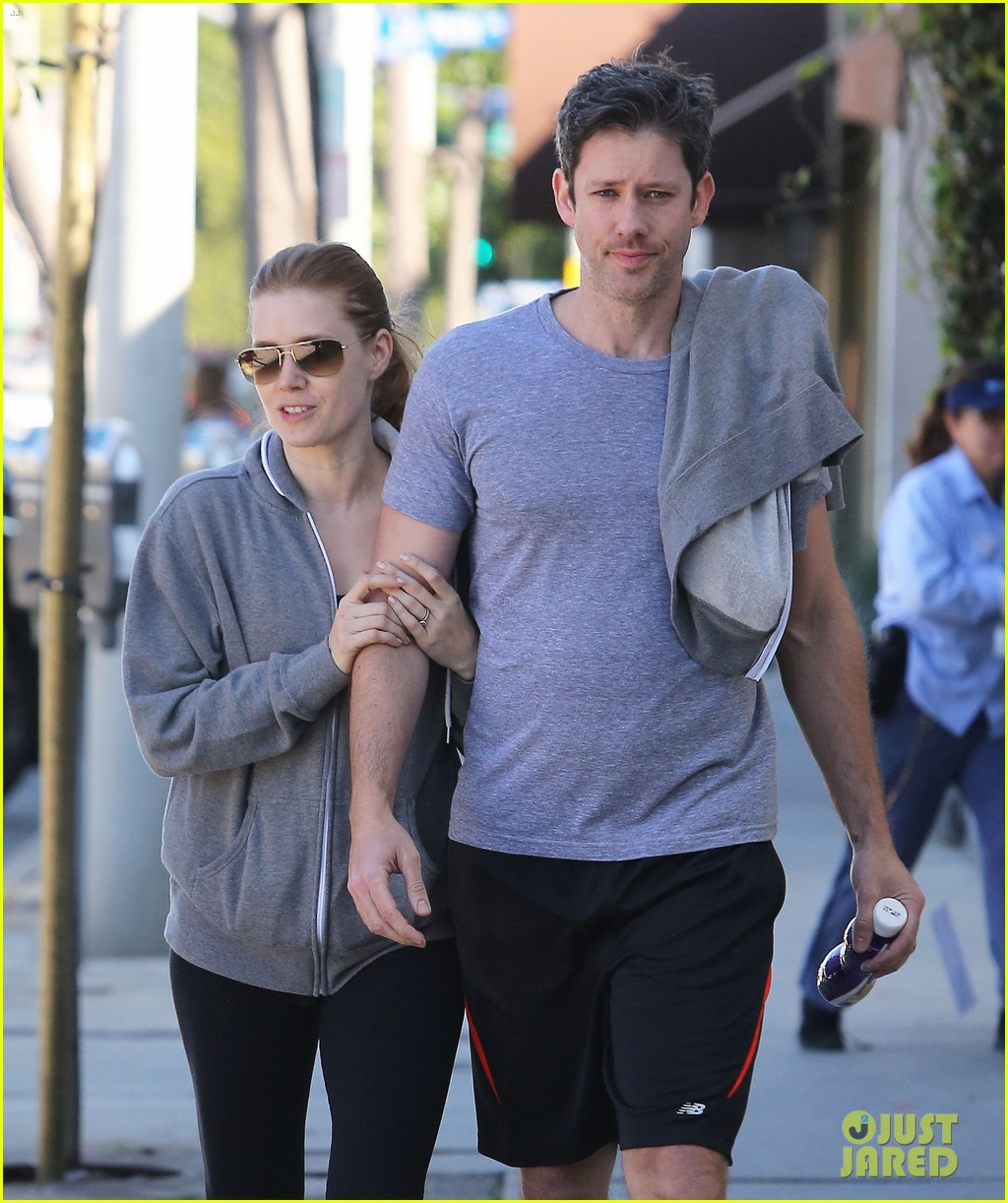 amy adams darren le gallo weho workout twosome 082816365