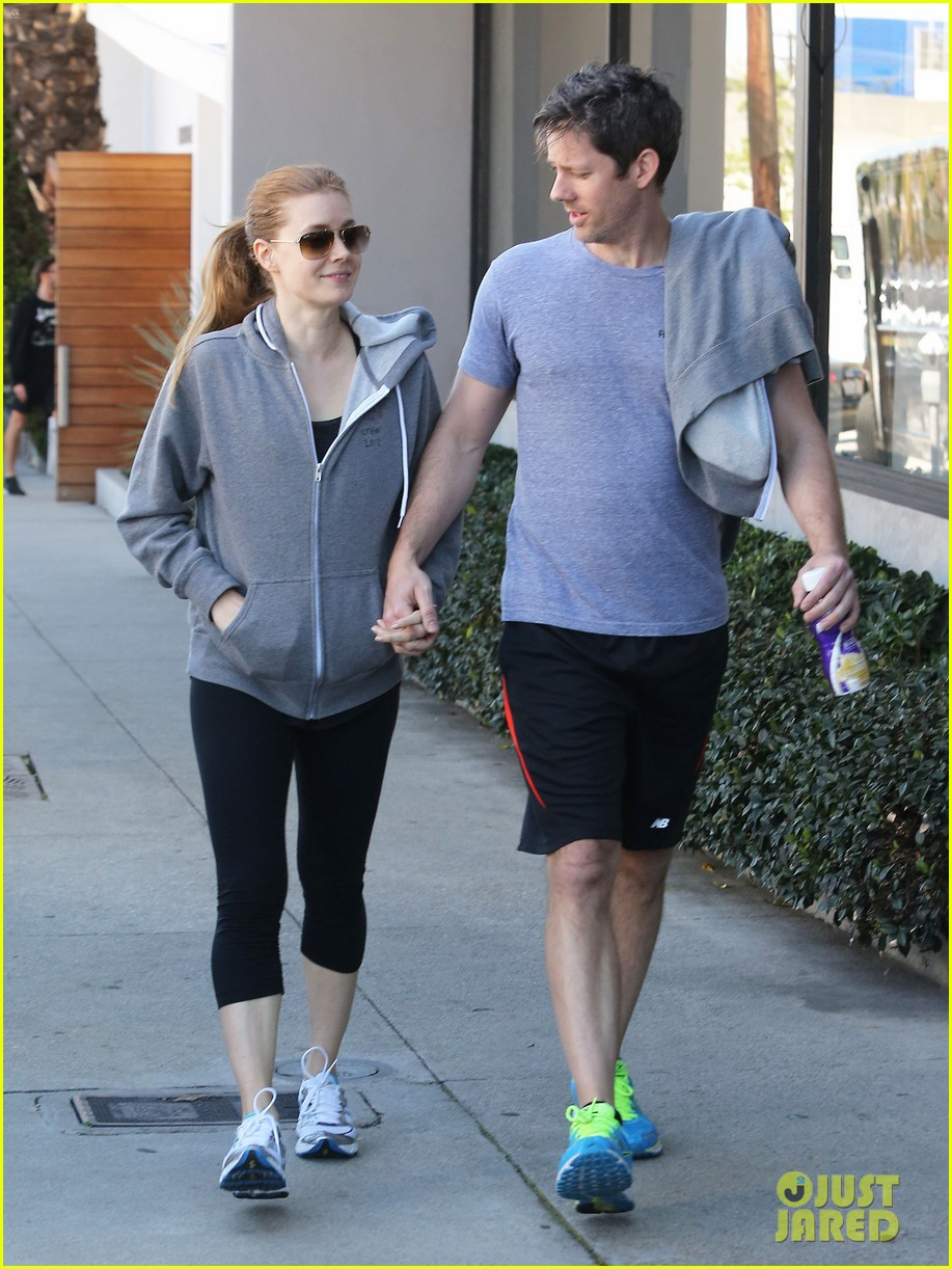 amy adams darren le gallo weho workout twosome 102816367