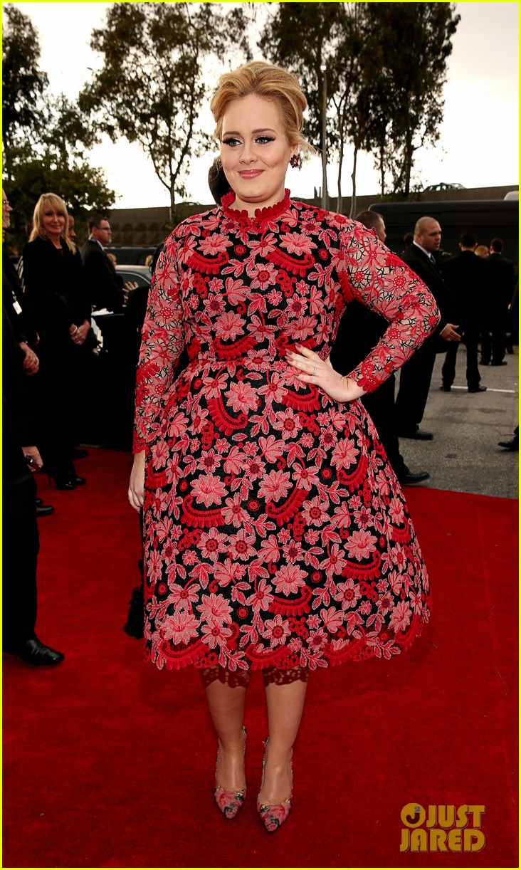 adele grammys 2013 red carpet 032809228
