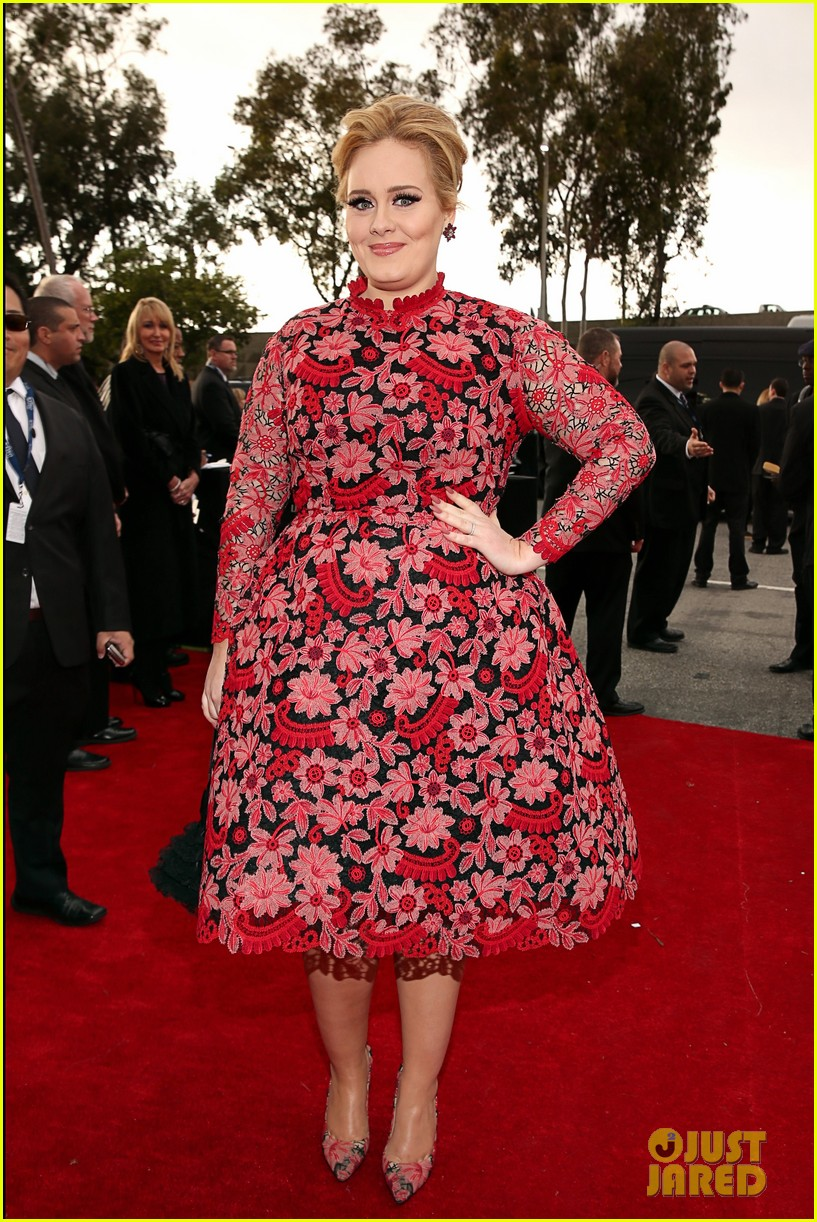 adele grammys 2013 red carpet 052809230