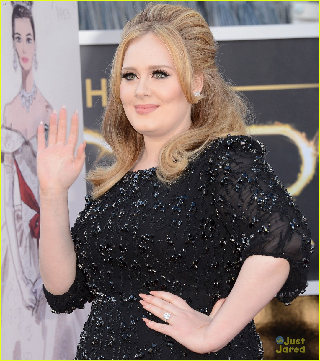 adele oscars red carpet 2013 02