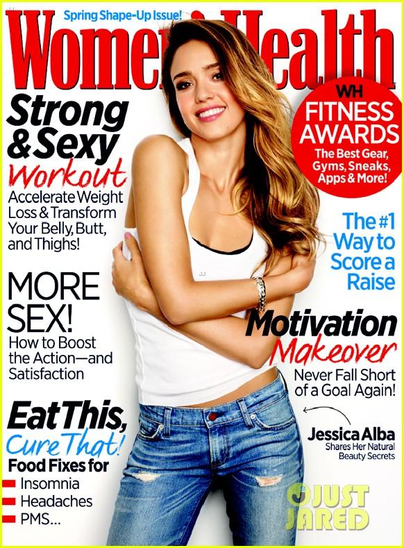 jessica alba covers womens health march 2013 022804613