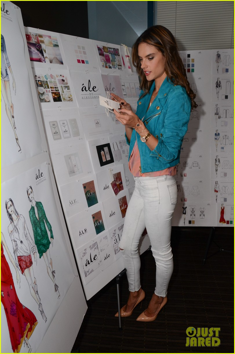 alessandra ambrosio works on ale by alessandra designs 05