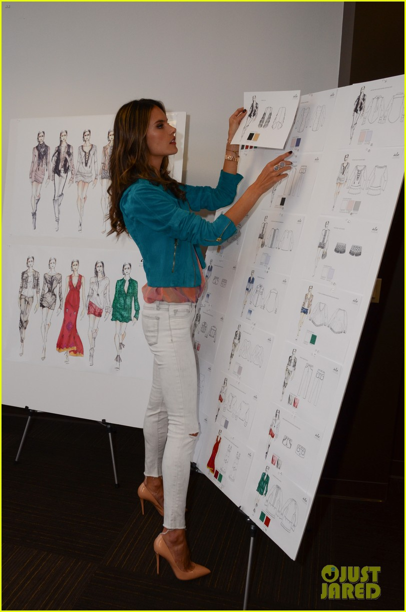 alessandra ambrosio works on ale by alessandra designs 132806127