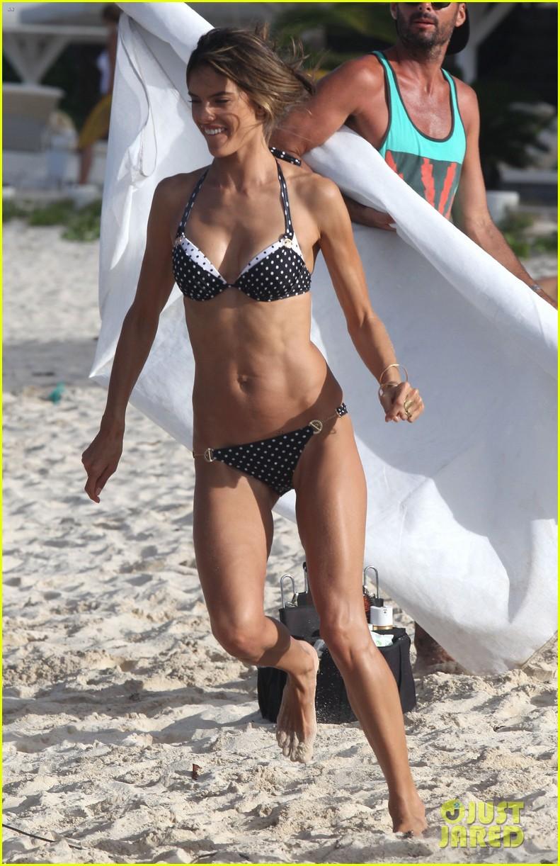 alessandra ambrosio bikini photo shoot in st barts 292802412