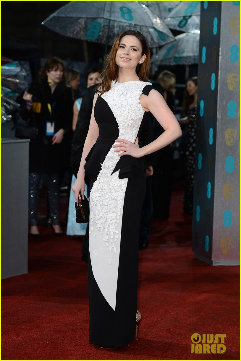 hayley atwell alice eve baftas 2013 red carpet 012809067