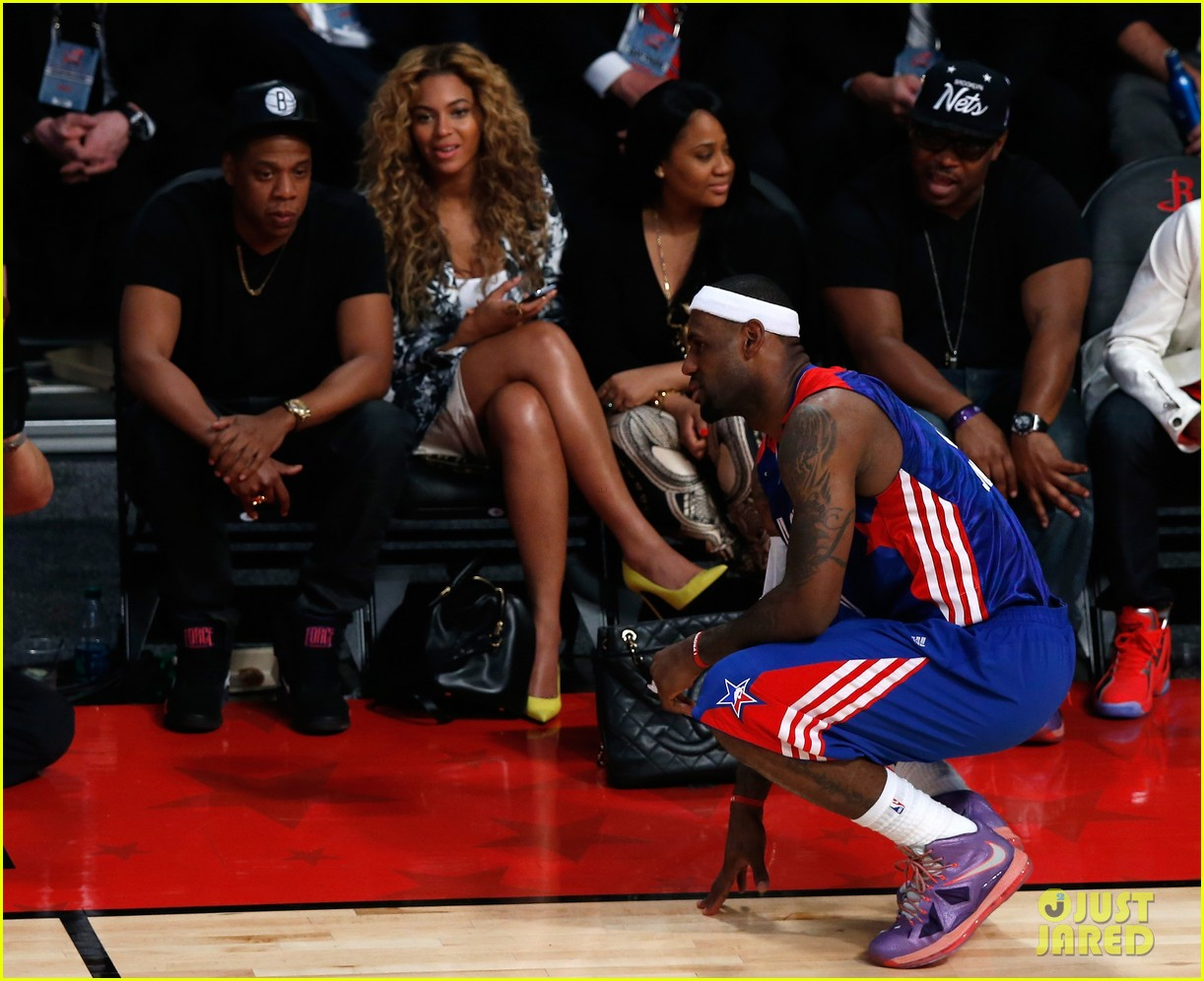 beyonce jay z nba all star game 04
