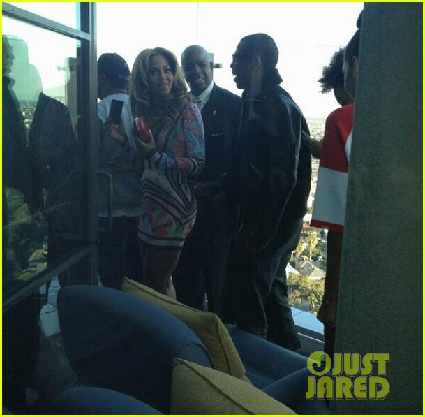 beyonce solange knowles roc nation pre grammy party 2013 082808508