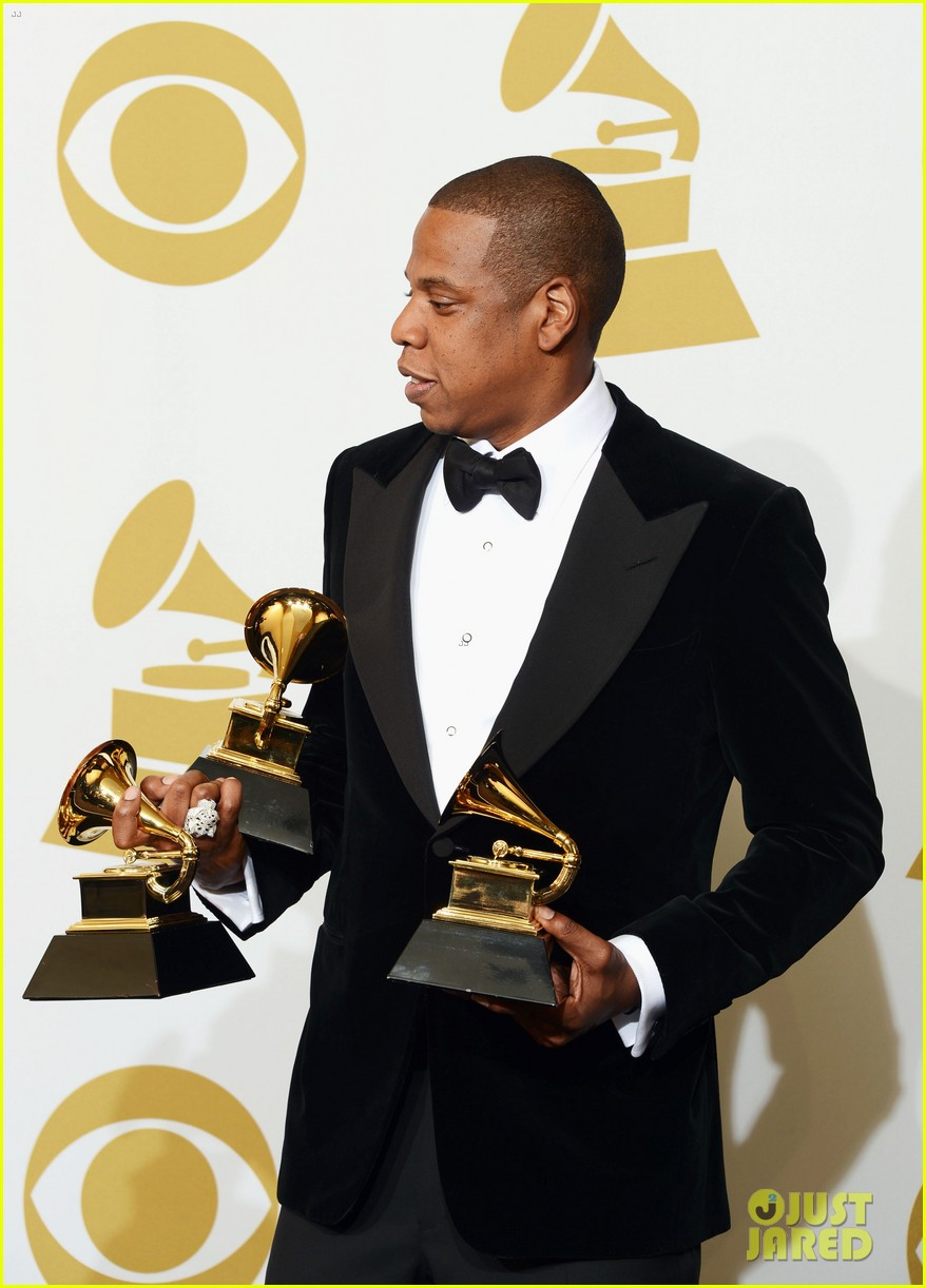 beyonce jay z grammys 2013 winners room photos 192809647