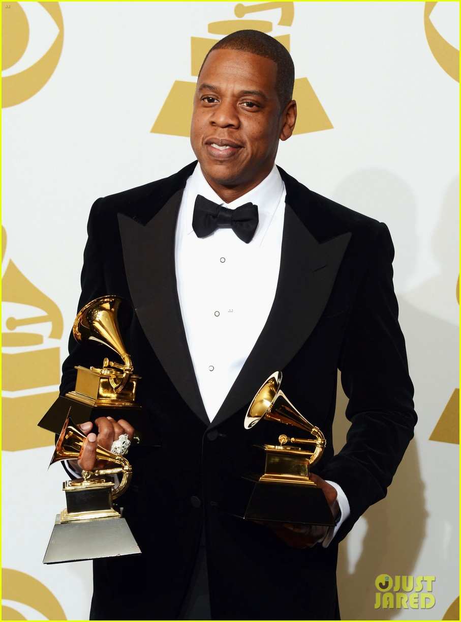 beyonce jay z grammys 2013 winners room photos 21