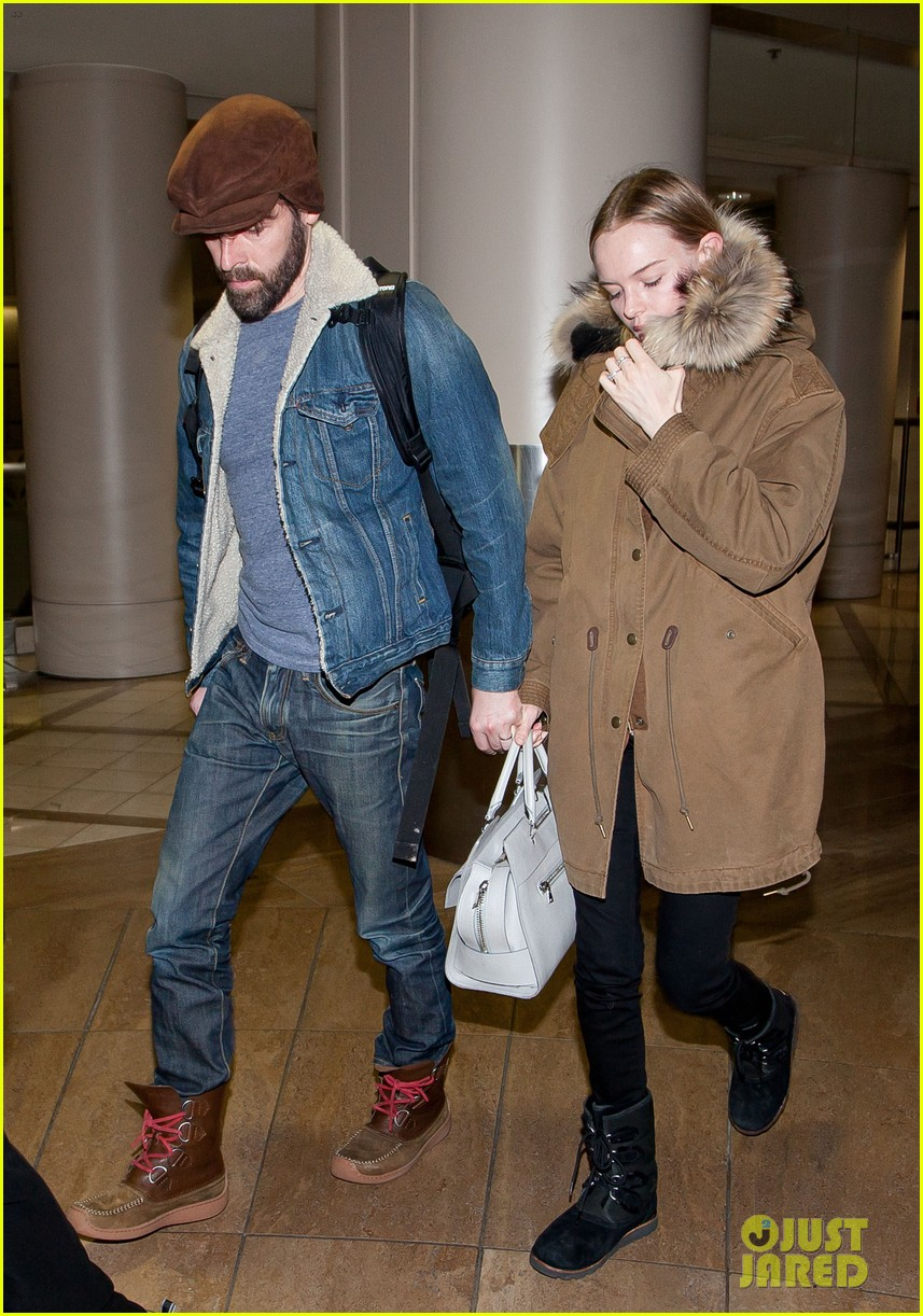 kate bosworth lax arrivial with michael polish 072805266