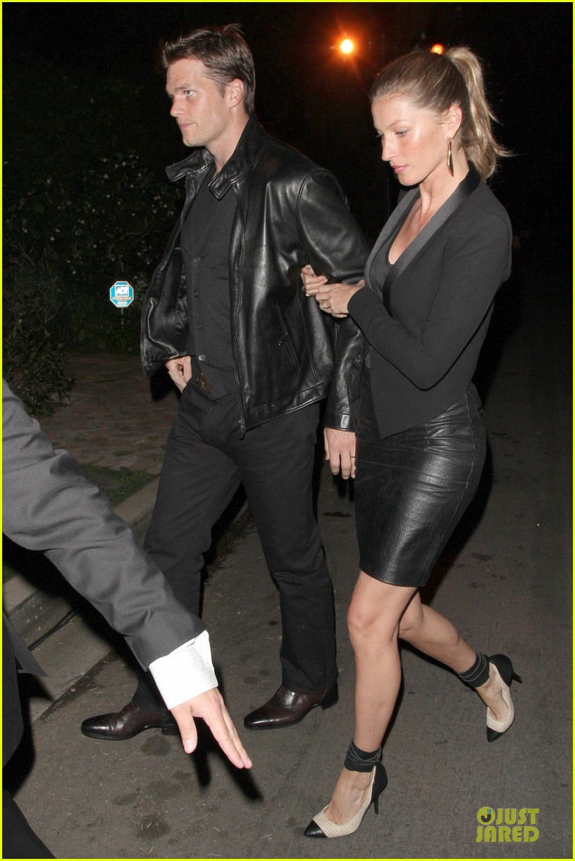 gisele bundchen tom brady pre oscar party in brentwood 032817676
