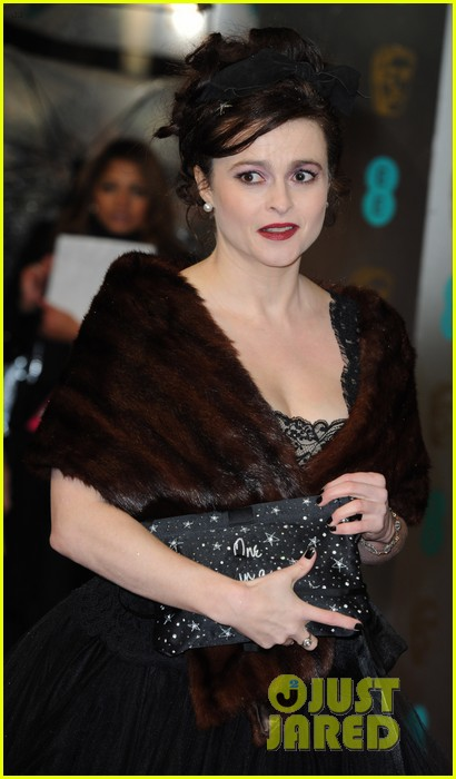 tim burton helena bonham carter baftas 2013 red carpet 022809030