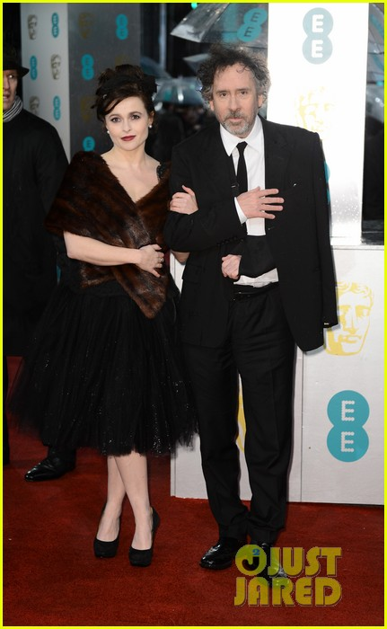 tim burton helena bonham carter baftas 2013 red carpet 052809033