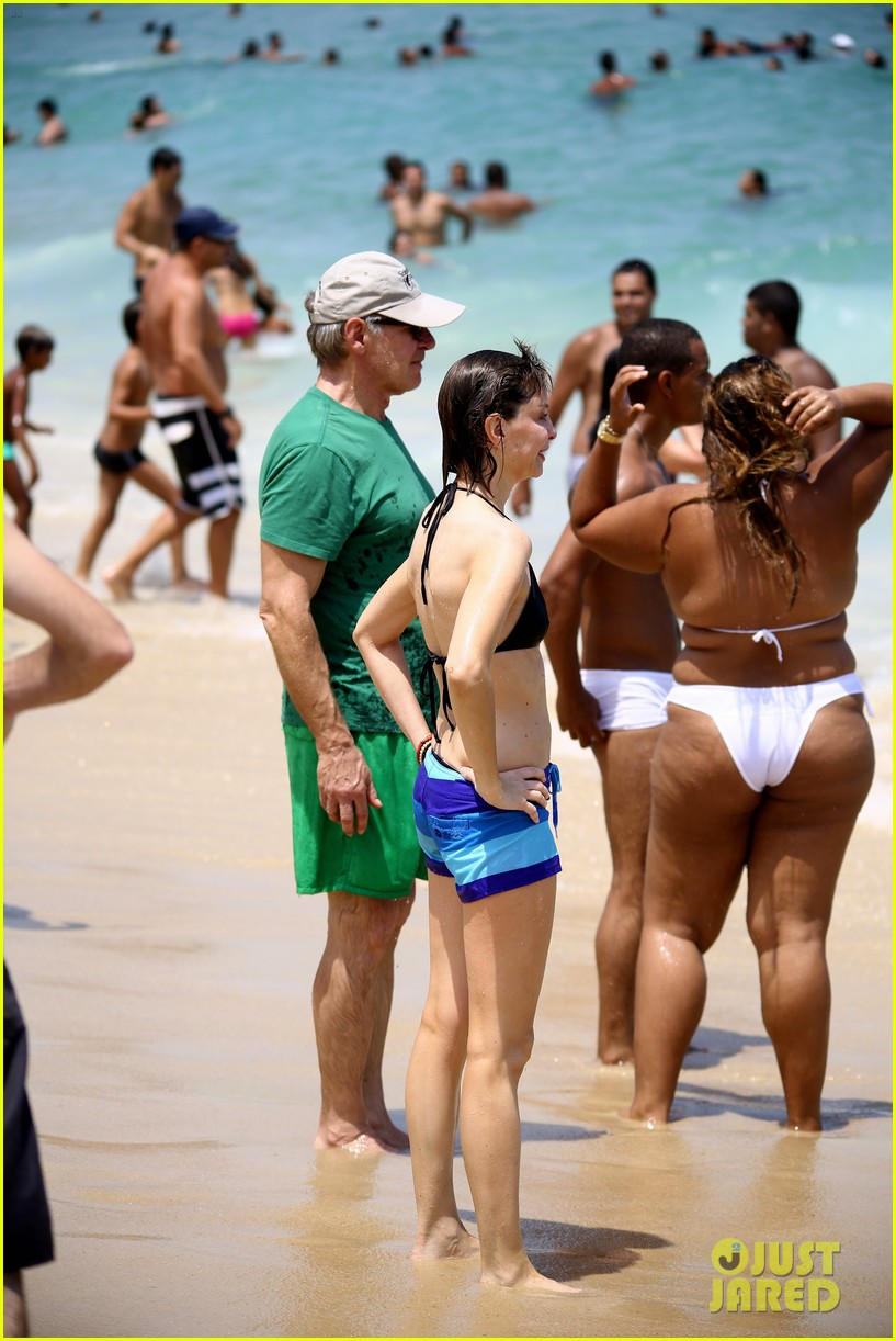 calista flockhart bikini beach day with harrison ford 032814411