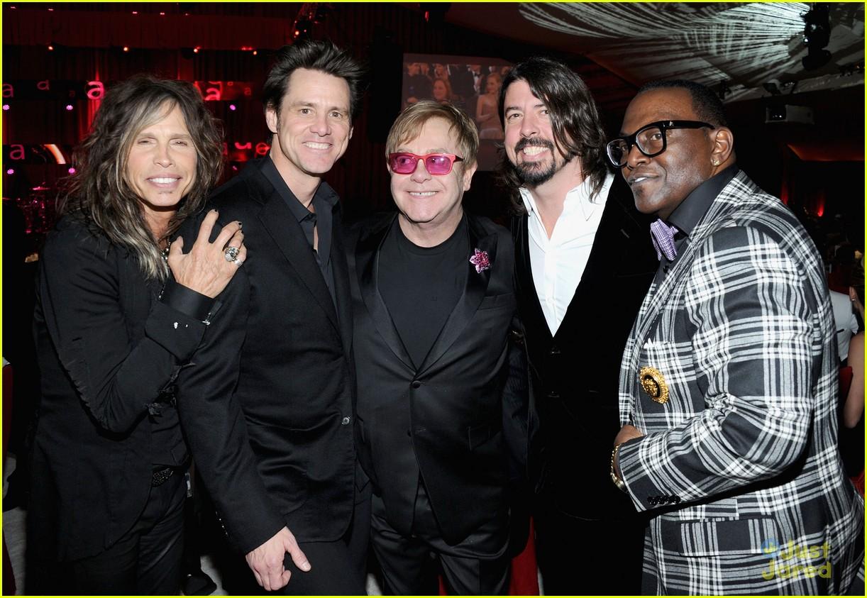Giantess Carrei: Jim Carrey: Giant Feet At Elton John Oscars Party 2013
