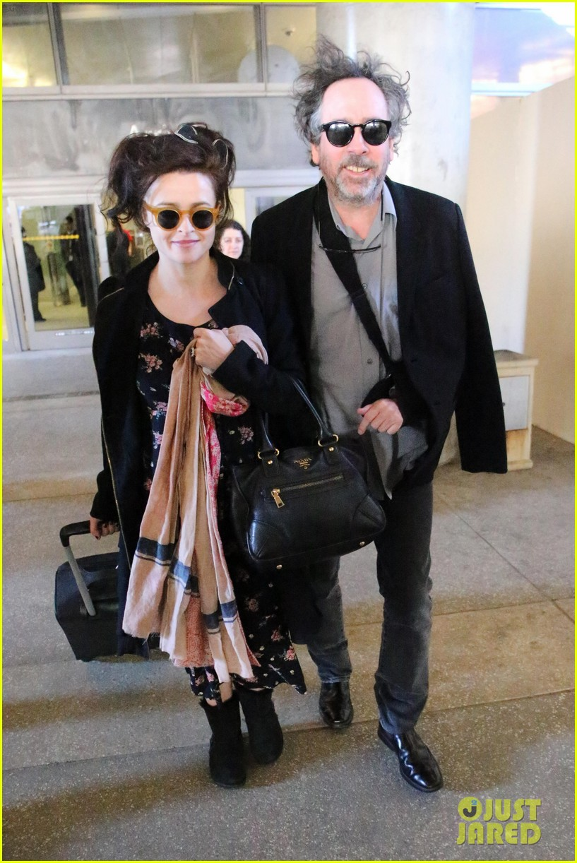 helena bonham carter tim burton arrive for oscars week 01