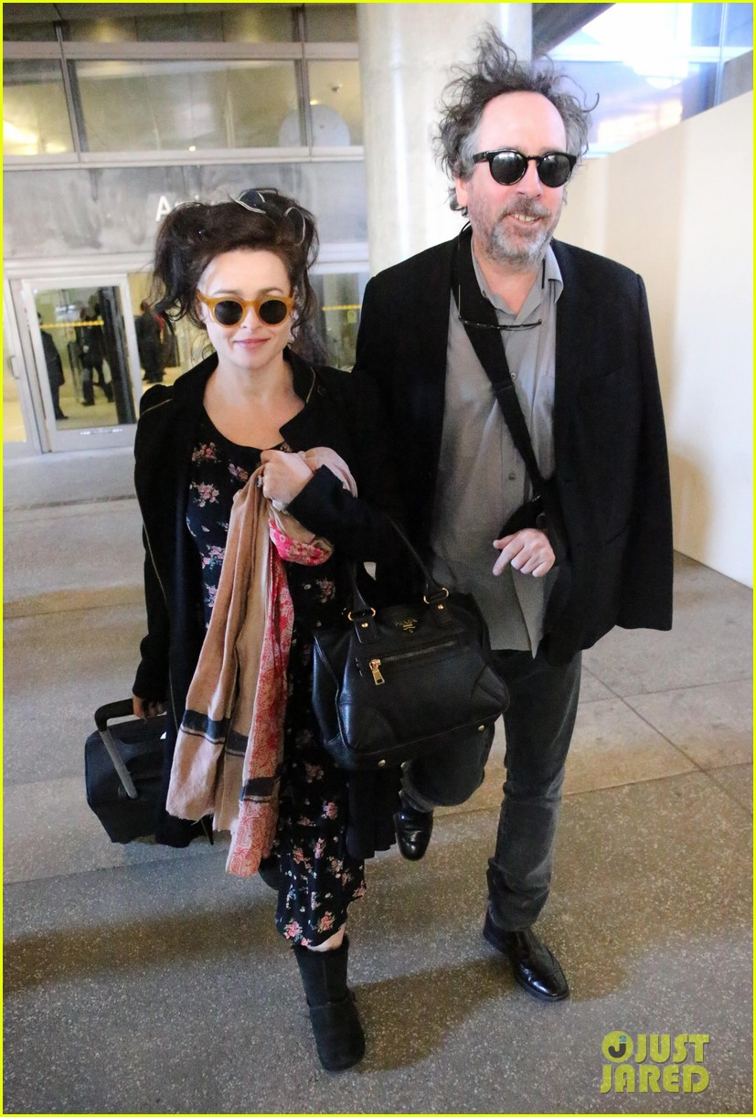 helena bonham carter tim burton arrive for oscars week 07