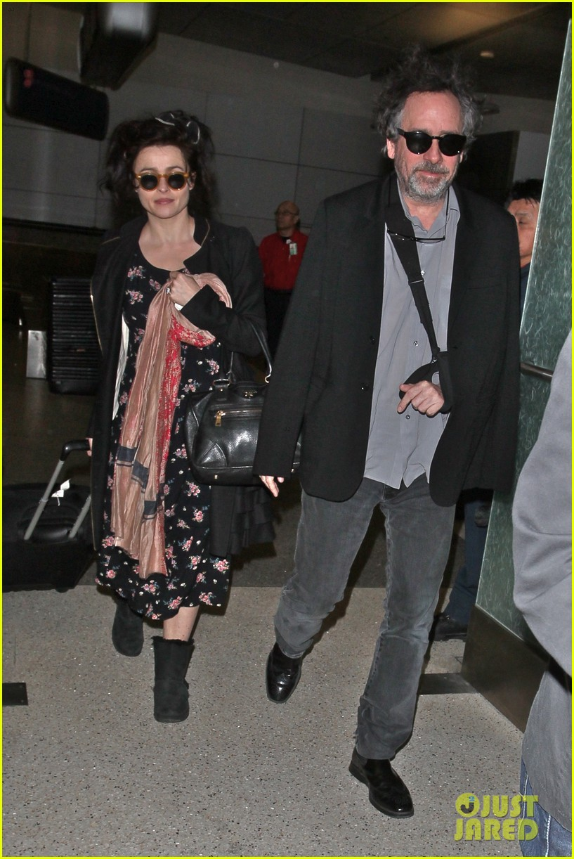 helena bonham carter tim burton arrive for oscars week 08