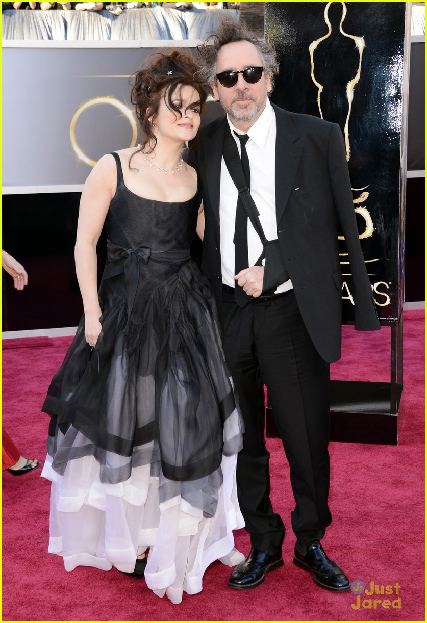 helena bonham carter tim burton oscars red carpet 2013 03