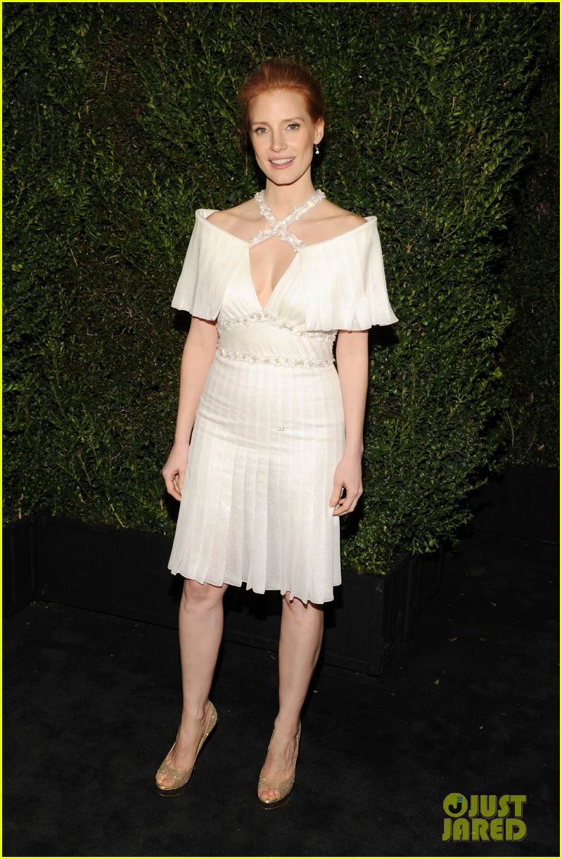 jessica chastain chanel pre oscars dinner 2013 052818330
