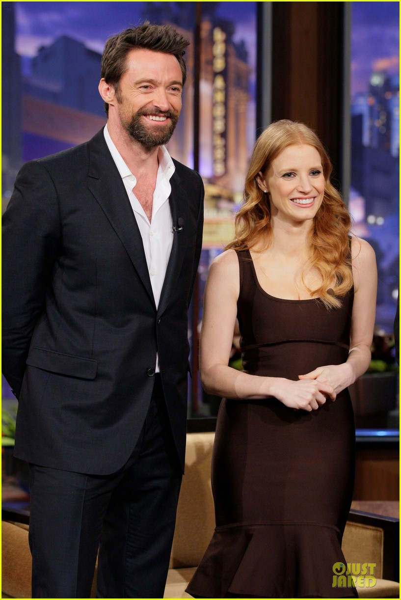 jessica chastain hugh jackman tonight show with jay leno guests 02