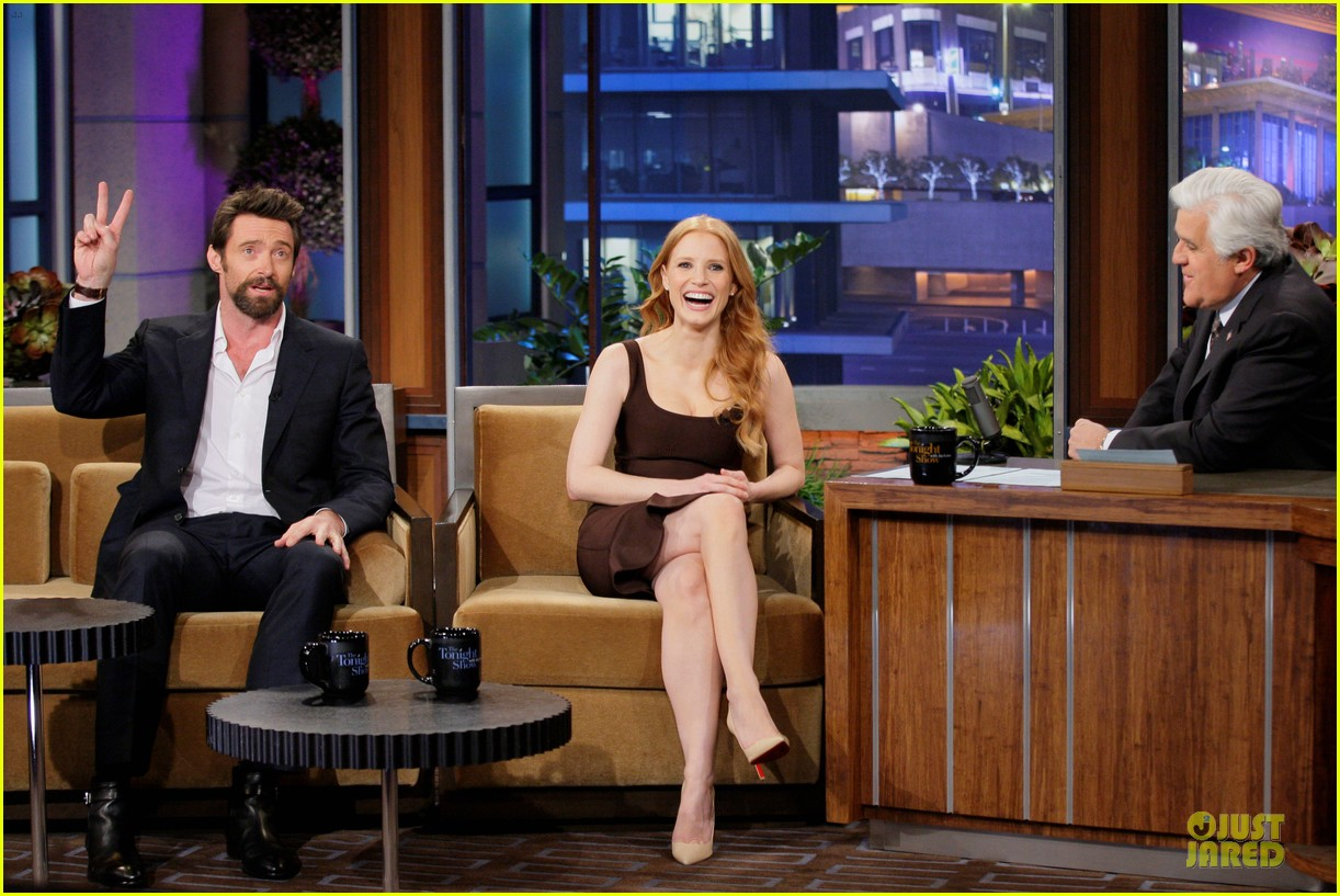 jessica chastain hugh jackman tonight show with jay leno guests 142805244