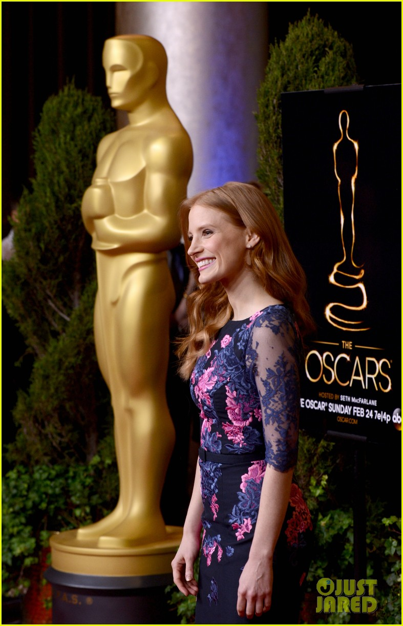 jessica chastain oscar nominees luncheon 2013 052804677