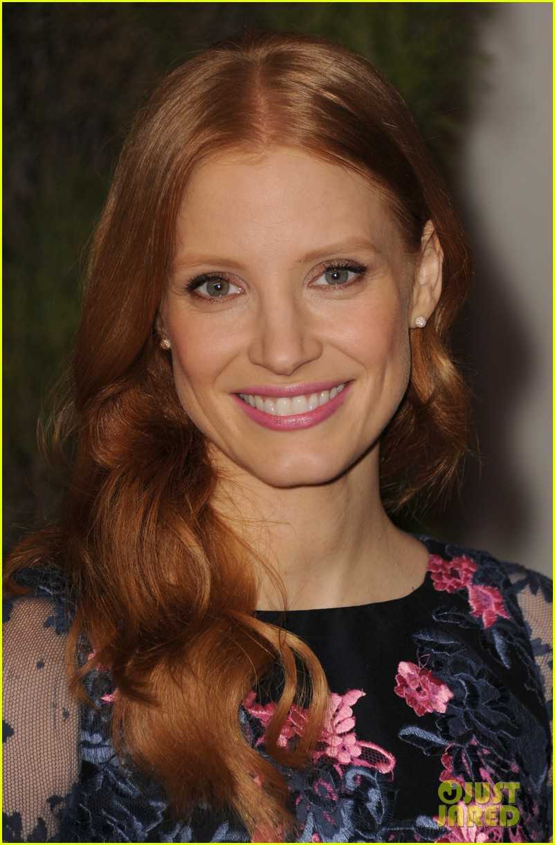 jessica chastain oscar nominees luncheon 2013 07