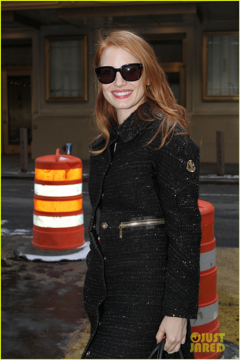 jessica chastain lands at lax nikolaj coster waldau promotes mama 23