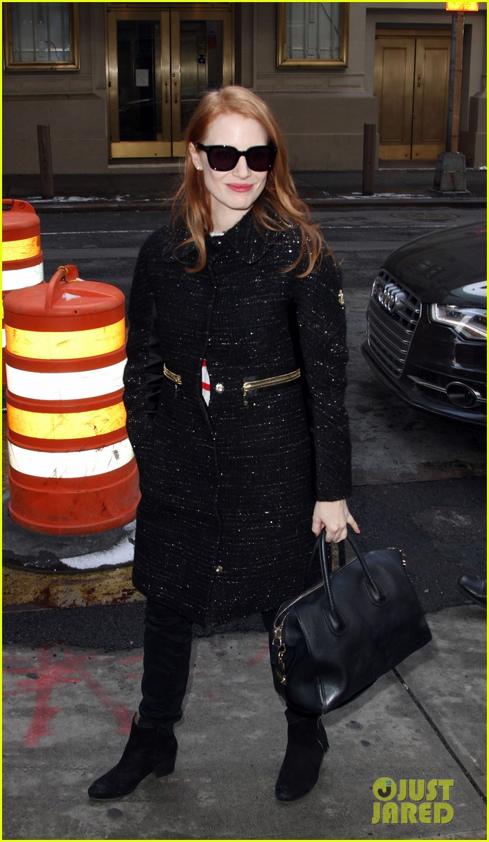 jessica chastain lands at lax nikolaj coster waldau promotes mama 252804529