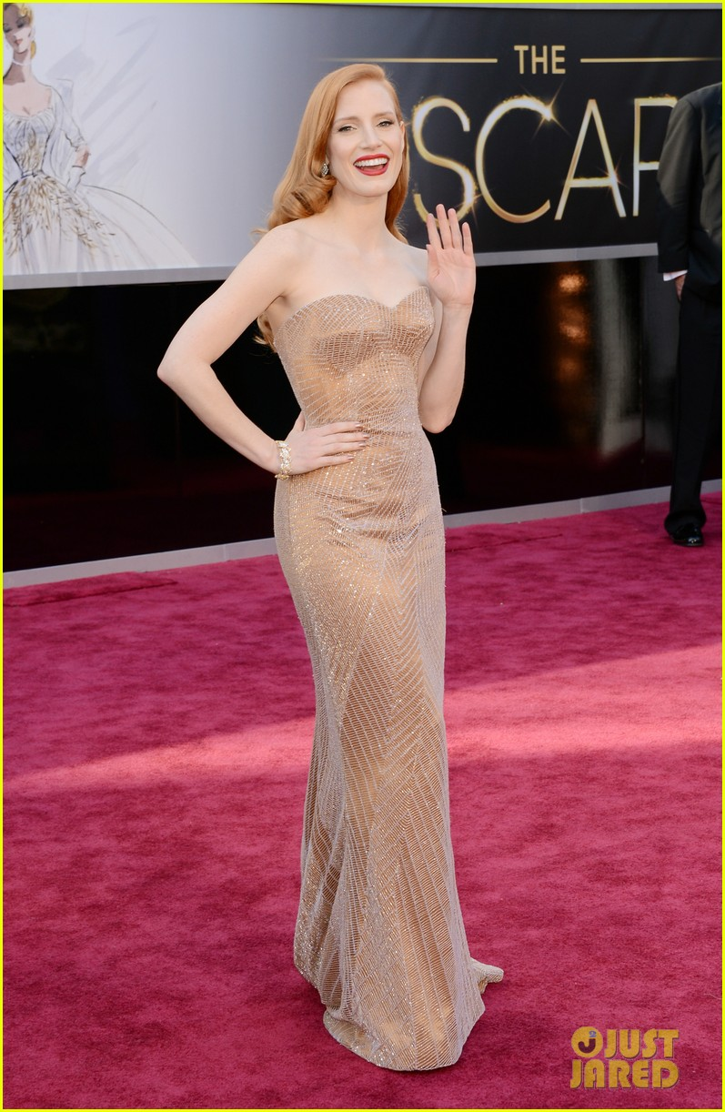 jessica chastain oscars 2013 red carpet 052818971