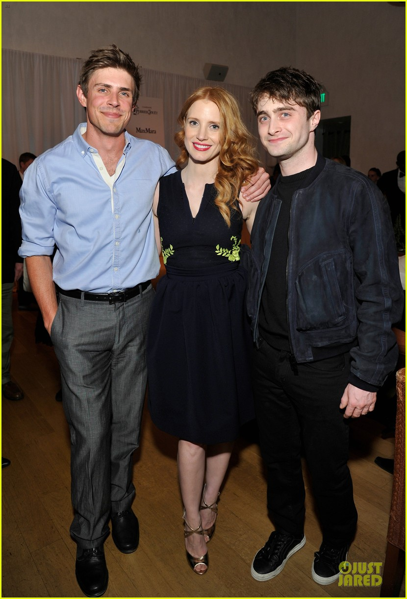 jessica chastain daniel radcliffe women in film pre oscar cocktail party 052817491