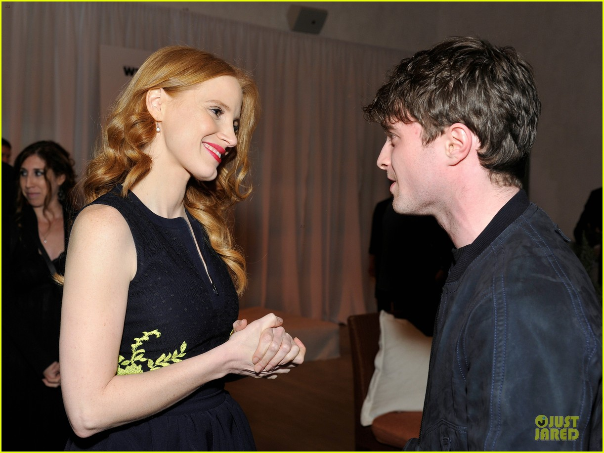 jessica chastain daniel radcliffe women in film pre oscar cocktail party 232817509