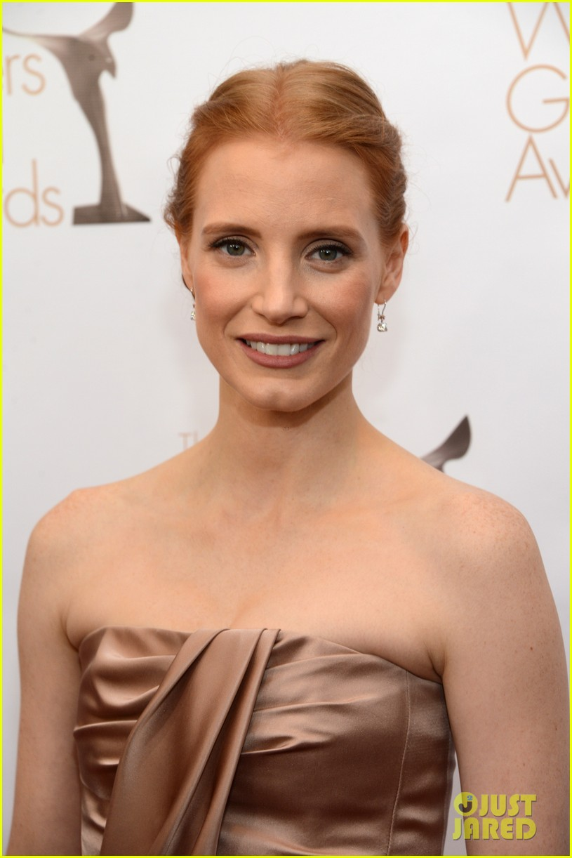 jessica chastain writers guild awards 2013 red carpet 052814269