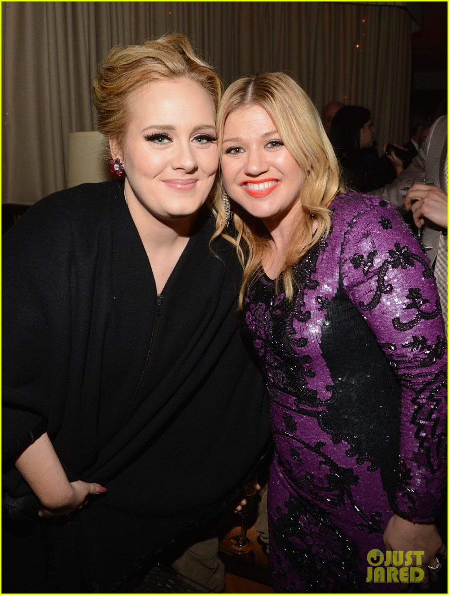 kelly clarkson adele sony music grammy after party 012809898