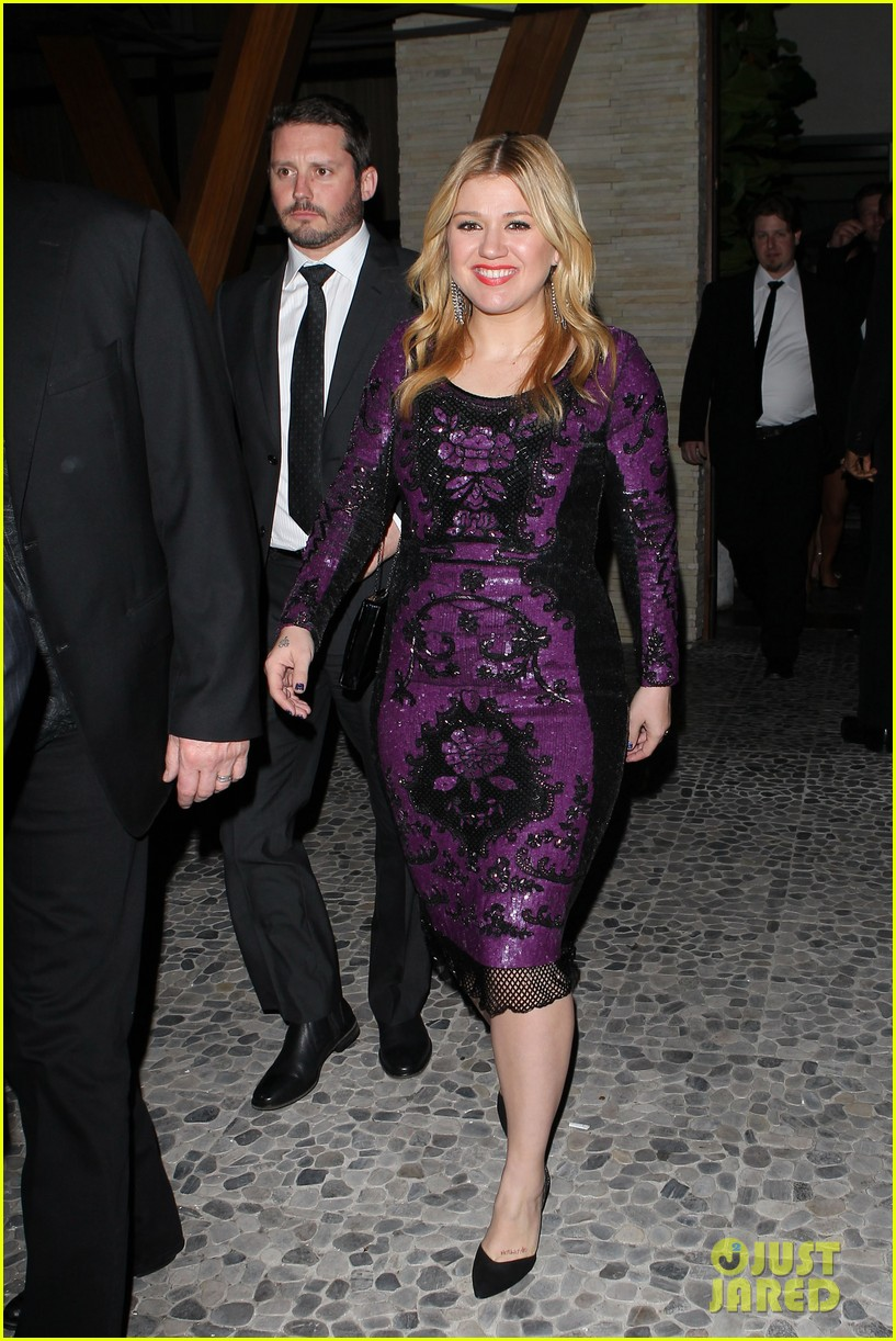 kelly clarkson adele sony music grammy after party 02