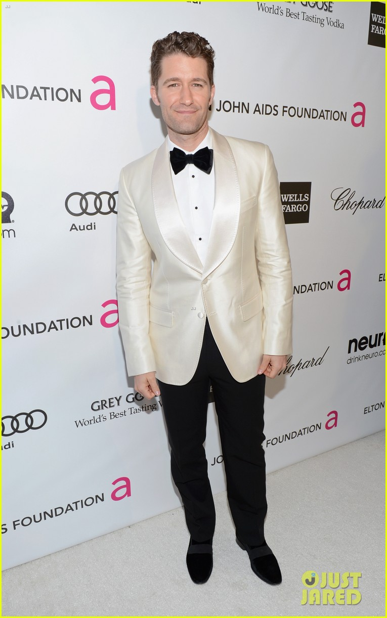 chris colfer matthew morrison elton john oscars party 2013 092819355