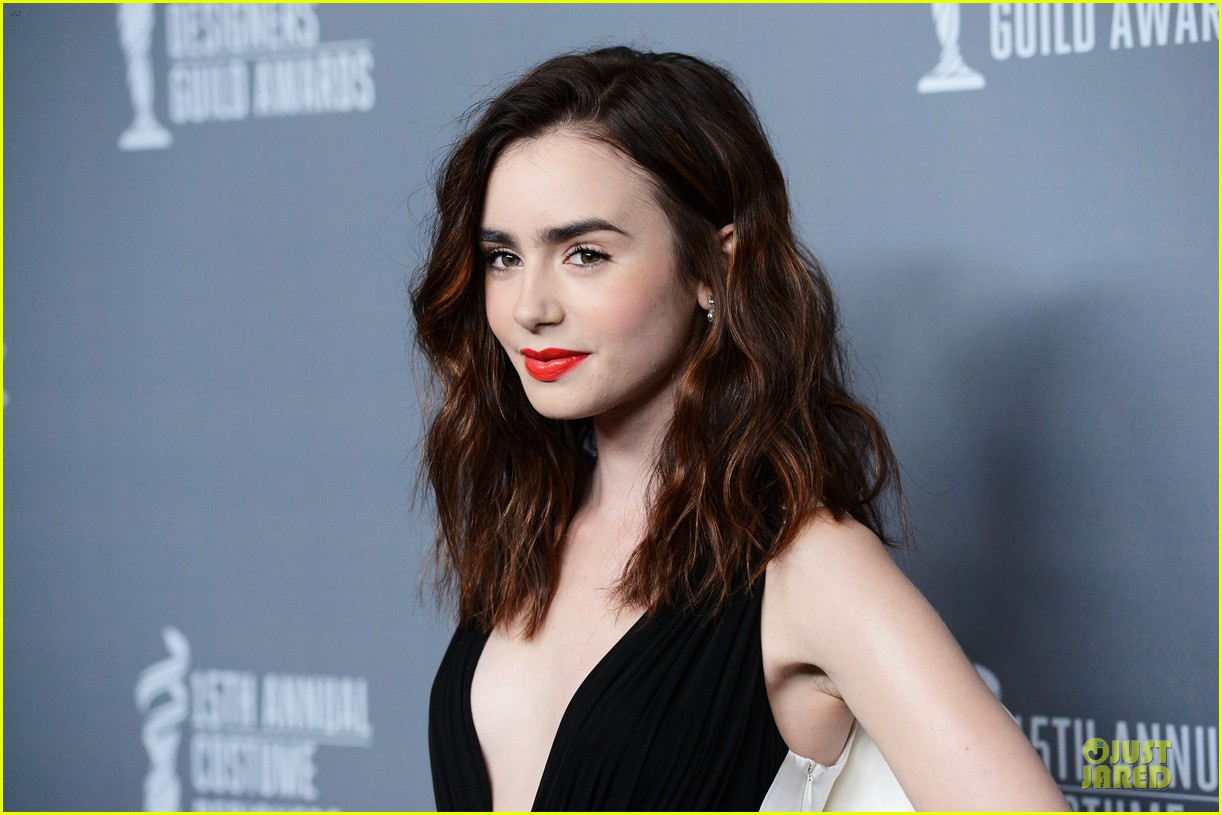 lily collins ashley madekwe cdg awards 2013 red carpet 162815471