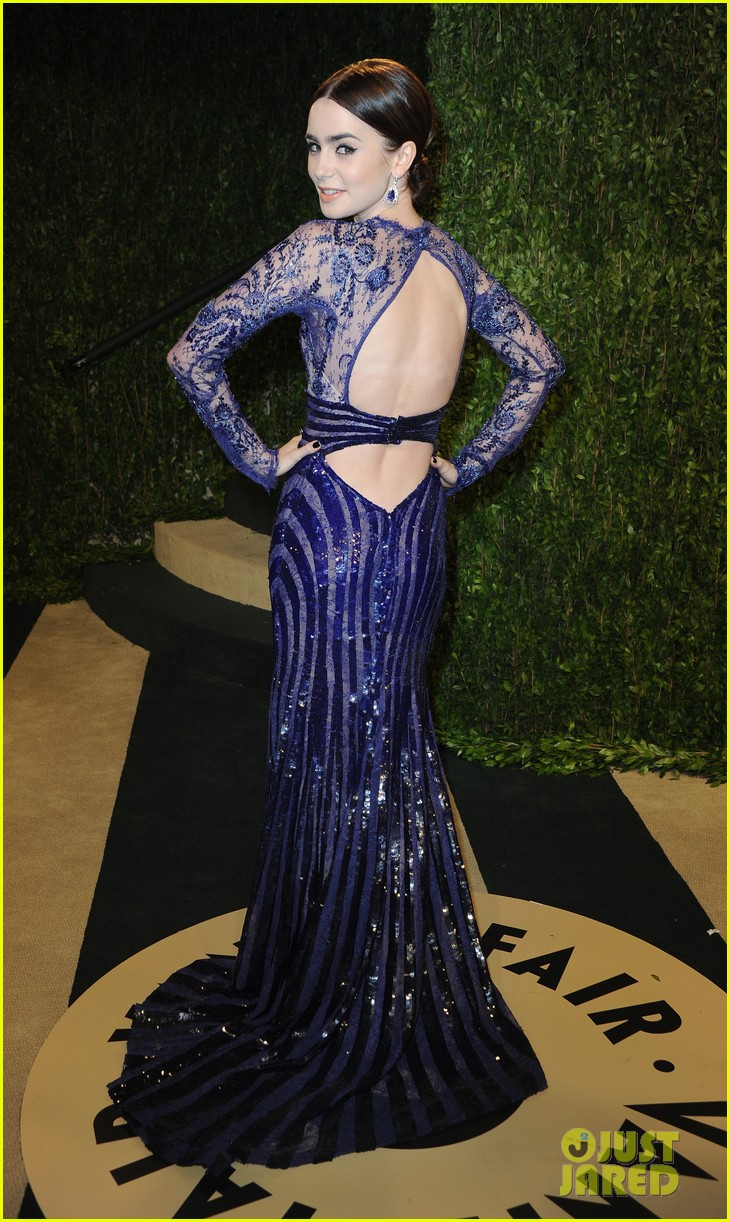 lily collins vanity fair oscars party 2013 022819890
