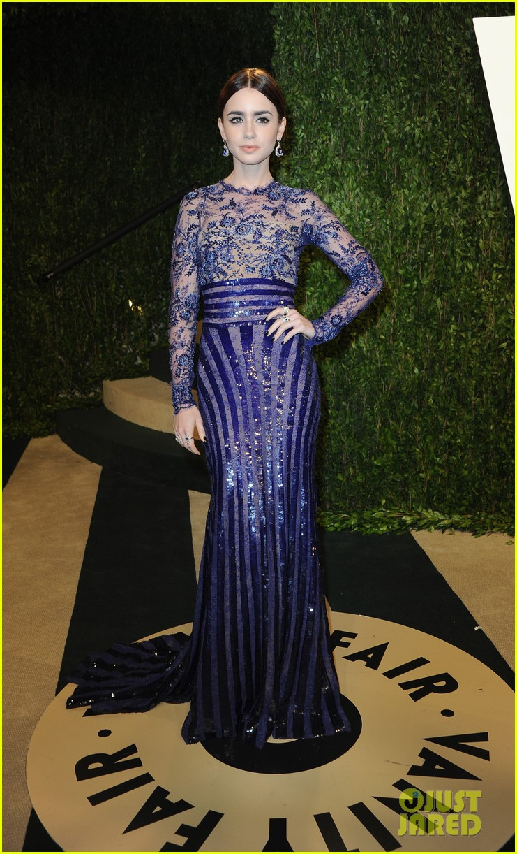 lily collins vanity fair oscars party 2013 03
