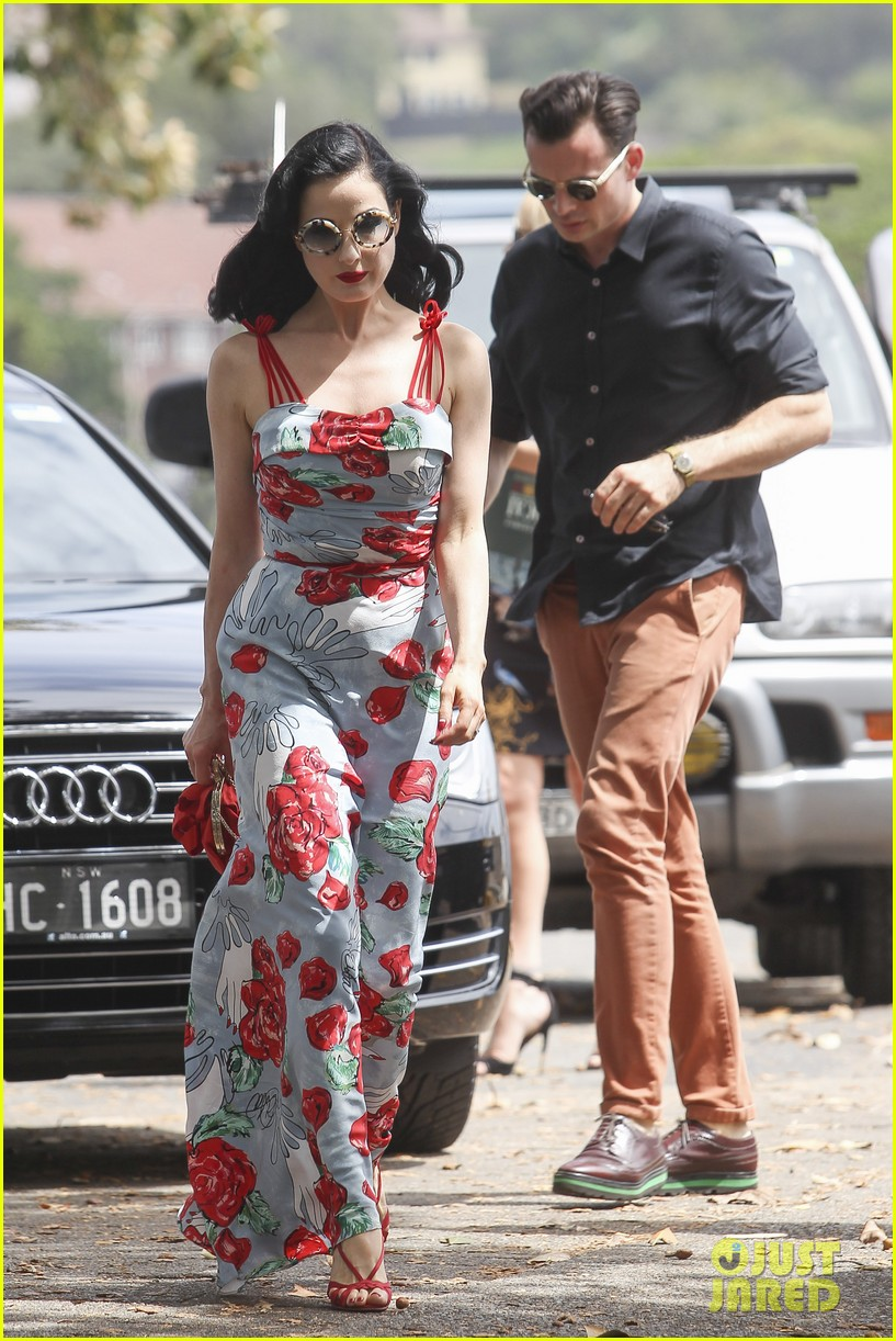 dita von teese catalina lunch with theo hutchcraft 142821078